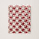 Modelo retro de encargo en rojo puzzles con fotos