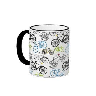 Modelo retro de la bici de la bicicleta taza