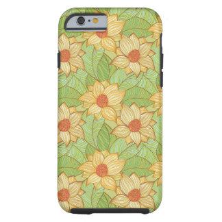 Modelo retro de la magnolia funda resistente iPhone 6