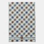 Modelo retro de la moda con el monograma toallas de cocina