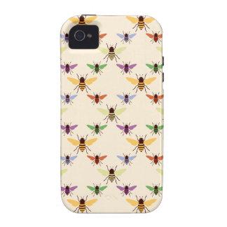 Modelo retro de la naturaleza de los abejorros de iPhone 4 carcasas