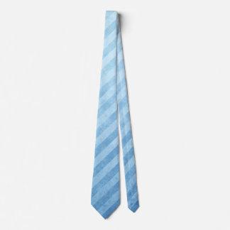 Modelo retro de la raya azul corbata personalizada