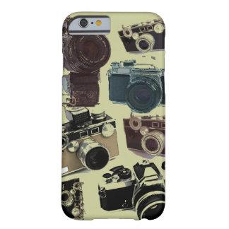 Modelo retro de las cámaras del Grunge del vintage Funda De iPhone 6 Barely There