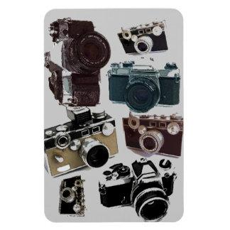 Modelo retro de las cámaras del Grunge del vintage Imán Rectangular