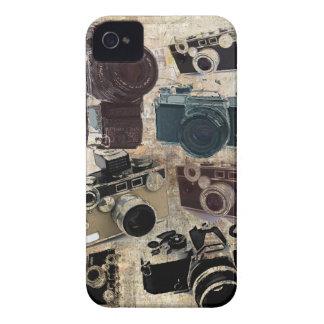 Modelo retro de las cámaras del Grunge del vintage iPhone 4 Case-Mate Carcasas