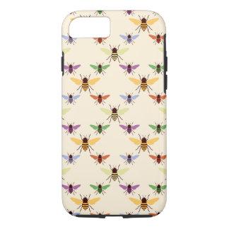 Modelo retro de los abejorros de las abejas del funda iPhone 7