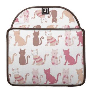 Modelo retro de los amantes del gato fundas macbook pro