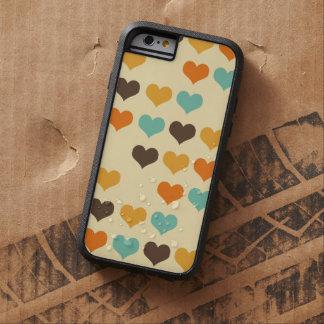 Modelo retro de los corazones de los colores funda para  iPhone 6 tough xtreme