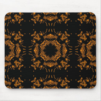 Modelo retro de los damascos florales de cobre neg mouse pad