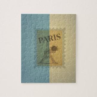 Modelo retro de París del franqueo del vintage Rompecabezas