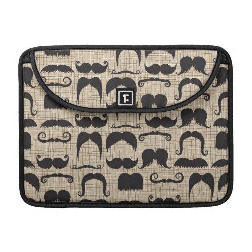 Modelo retro de Stache del bigote del bigote Funda Para Macbook Pro