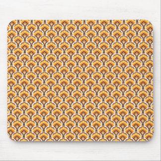 modelo retro del árbol - naranja tapete de ratón