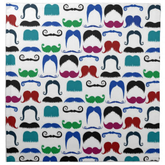 Modelo retro del bigote del bigote servilleta imprimida