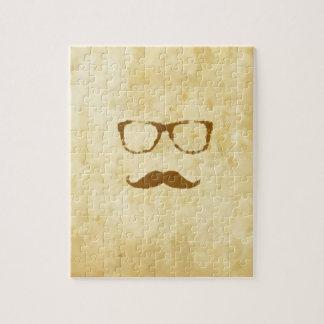 Modelo retro del bigote del vintage puzzles