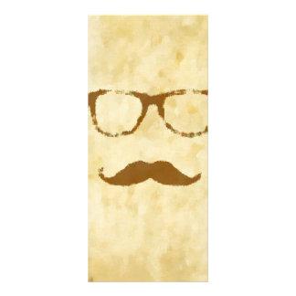 Modelo retro del bigote del vintage lonas publicitarias