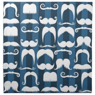 Modelo retro del bigote servilleta imprimida