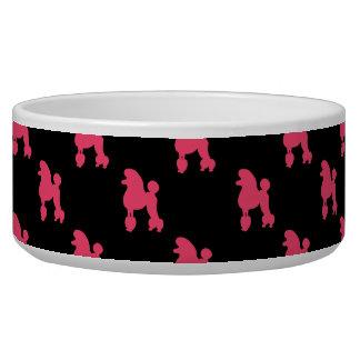 Modelo retro del caniche - rosa y negro comedero para mascota