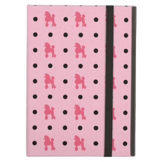 Modelo retro del caniche y de lunar - rosa y negro