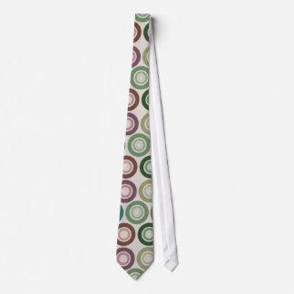Modelo retro del círculo del color silenciado corbatas