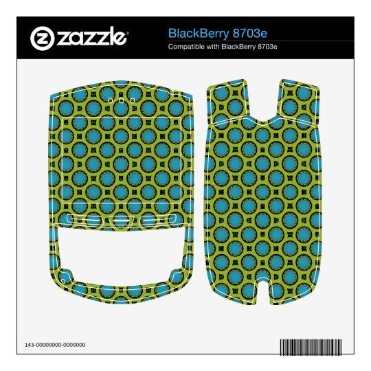 modelo retro del círculo del verde de la turquesa skins para BlackBerry
