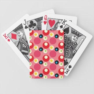 Modelo retro del círculo del vintage 70s cartas de juego
