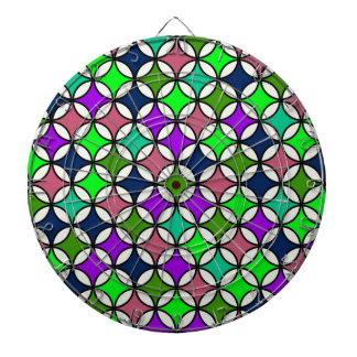 Modelo retro del círculo en colores vibrantes tablero de dardos