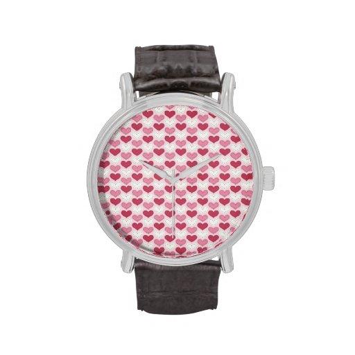 Modelo retro del corazón del el día de San Valentí Reloj