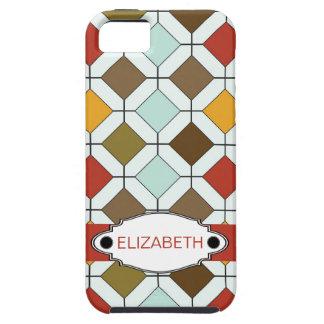 Modelo retro del diamante de los colores personali iPhone 5 Case-Mate coberturas