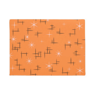Modelo retro del fondo anaranjado felpudo