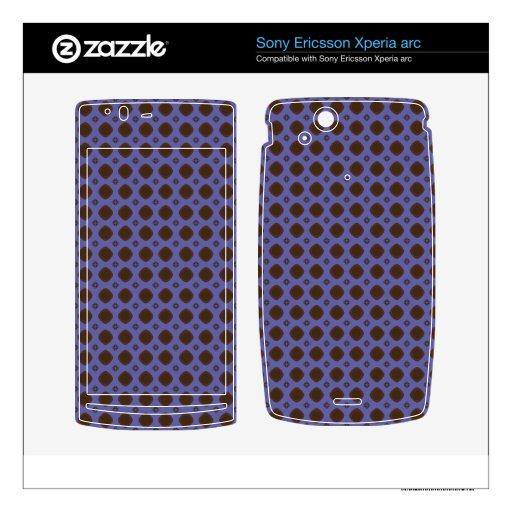 modelo retro del marrón azul xperia arc skins