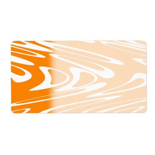 Modelo retro del naranja y blanco etiquetas de envío