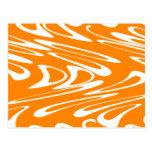 Modelo retro del naranja y blanco postal