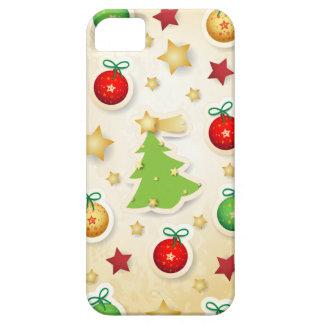 Modelo retro del navidad iPhone 5 carcasa