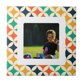 Modelo retro del papel pintado del vintage azulejo cuadrado pequeño