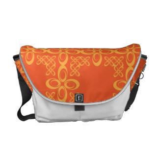 Modelo retro del vintage anaranjado bolsa messenger