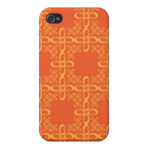 Modelo retro del vintage anaranjado iPhone 4/4S carcasa