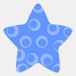 Modelo retro. Diseño del círculo en azul Colcomanias Forma De Estrella