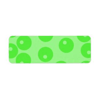 Modelo retro. Diseño del círculo en verde Etiquetas De Remite