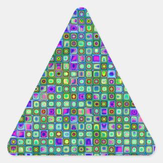 Modelo retro enrrollado del verde azul y púrpura colcomanias trianguladas personalizadas