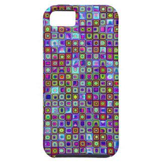 Modelo retro enrrollado púrpura de las tejas de mo iPhone 5 Case-Mate protector