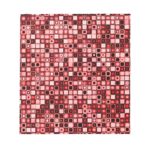 Modelo retro enrrollado rojo, blanco y negro de la libretas para notas
