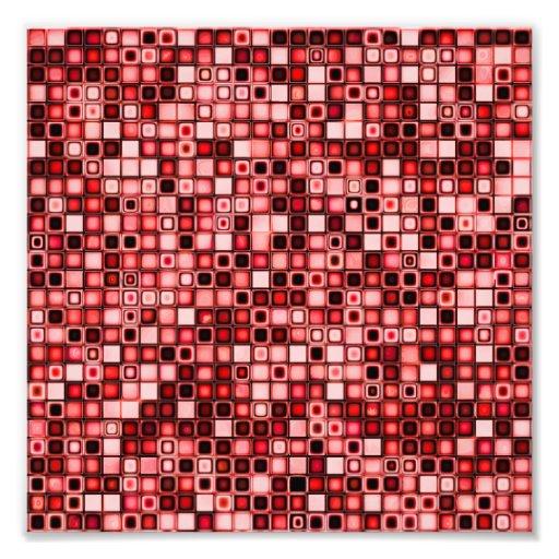 Modelo retro enrrollado rojo, blanco y negro de la fotografía