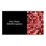 Modelo retro enrrollado rojo, blanco y negro de plantilla de tarjeta de negocio
