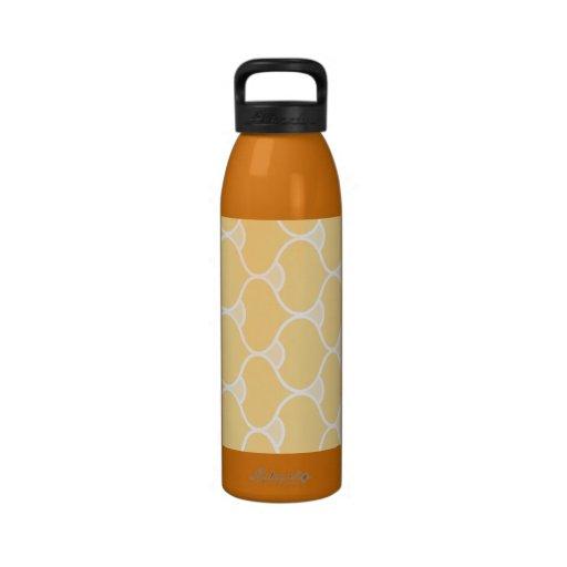 Modelo retro geométrico anaranjado botellas de beber