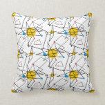 Modelo retro geométrico angular almohada