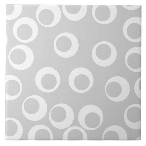 Modelo retro gris claro y blanco azulejo