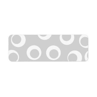 Modelo retro gris claro y blanco etiquetas de remite