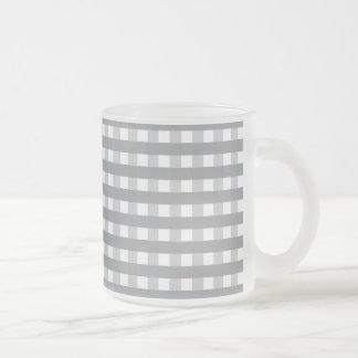 Modelo retro gris del estilo - bodas taza de cristal