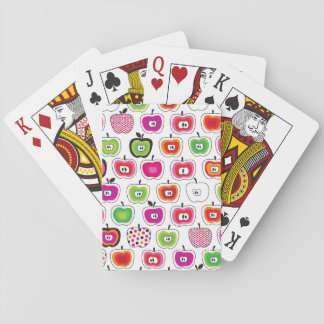 Modelo retro lindo de la manzana cartas de póquer