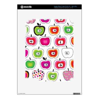 Modelo retro lindo de la manzana pegatinas skins para iPad 3